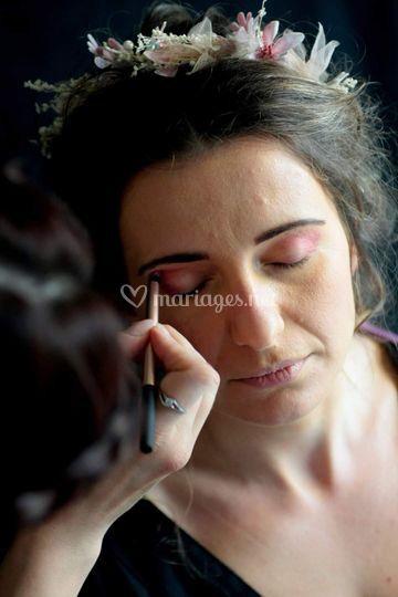 Séance maquillage