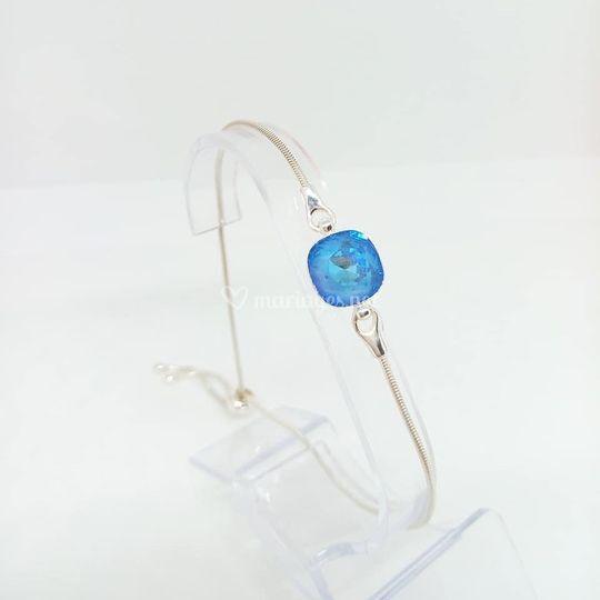 Bracelet cristal bleu lagon