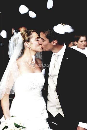 La baiser Cyrielle et Nicolas