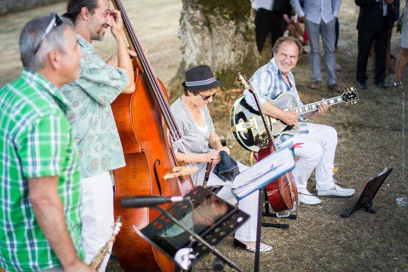 Quartet sax cocktail
