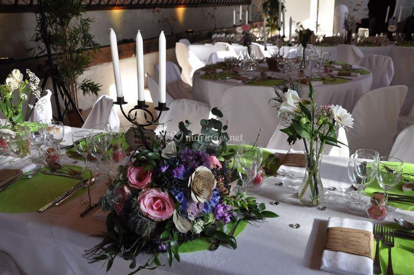Bouquet et salle