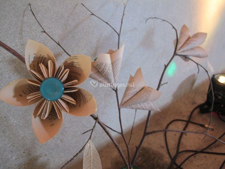 Branches de fleurs, salle