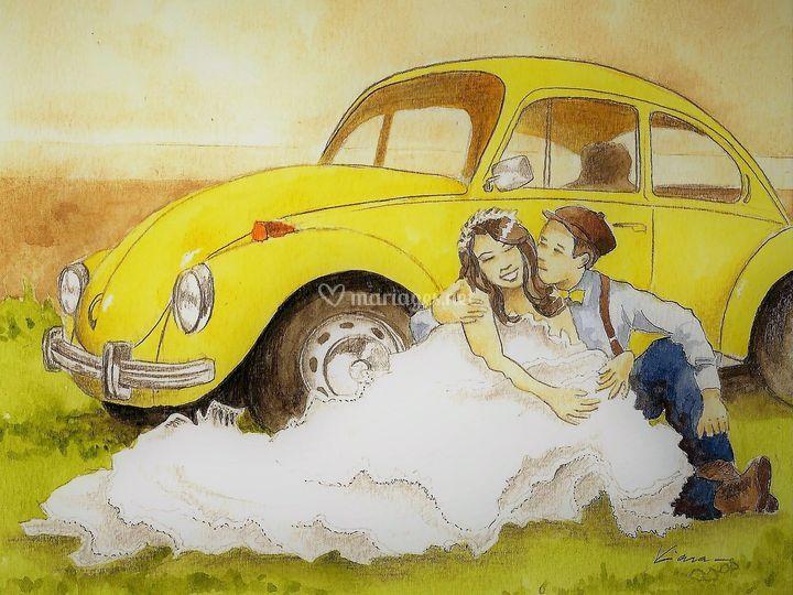 Mariage en Coccinelle!