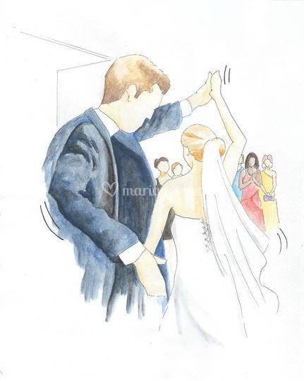 Danse des mariés à la mairie!