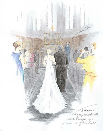 Vers l'autel