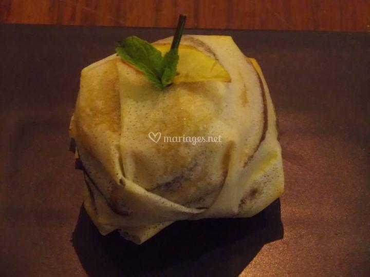 Croustillant d'andouille pomme et camembert
