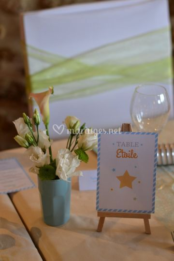 Décoration de table menu