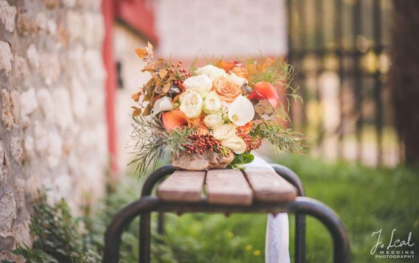 Bouquet automnal de la mariée