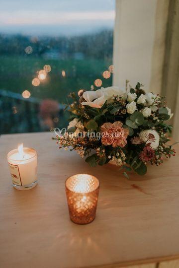 Fleurs et lanternes