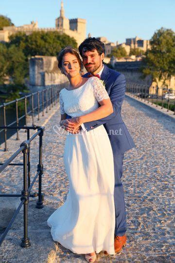 Photos sur le Pont d'Avignon