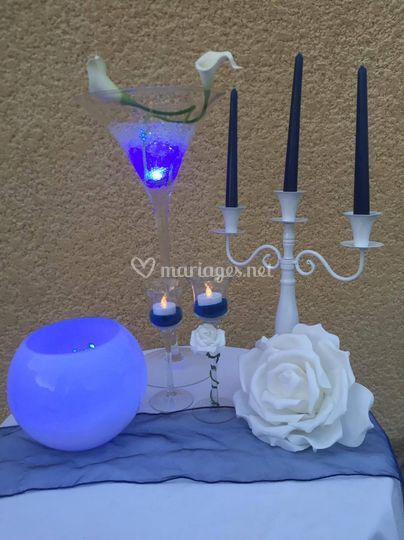 Vases martini & boule, chandel