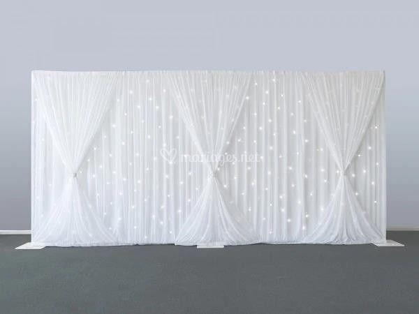 Rideau LED blanc