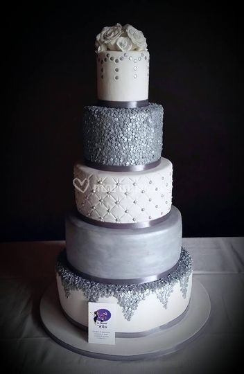 Wedding Cake - Argenté