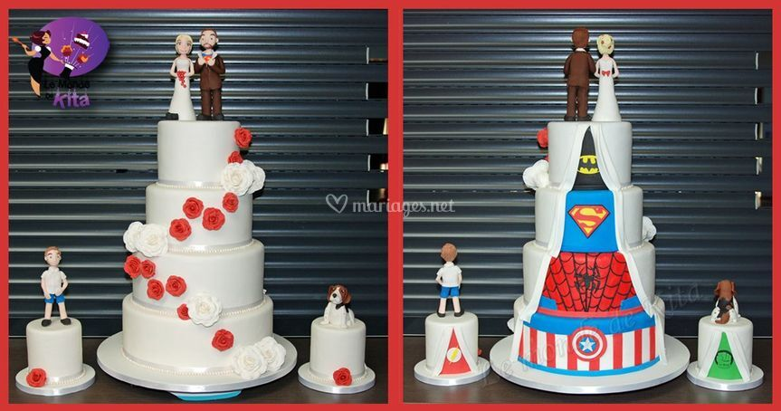 Wedding Cake à double thème