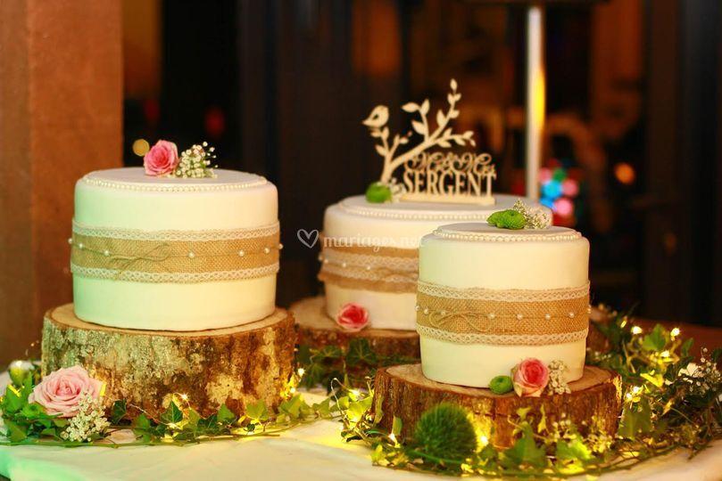 Wedding Cake -Triptyque Nature