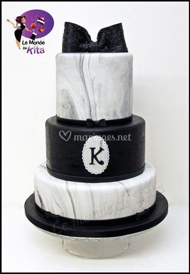 Wedding Cake Chic Marbré