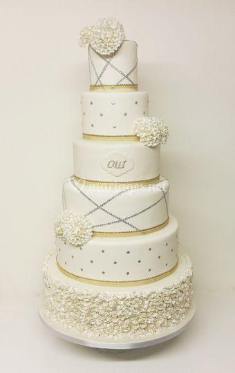 Wedding Cake Or et Argent