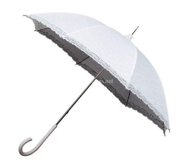 Parapluie dentelle blanc