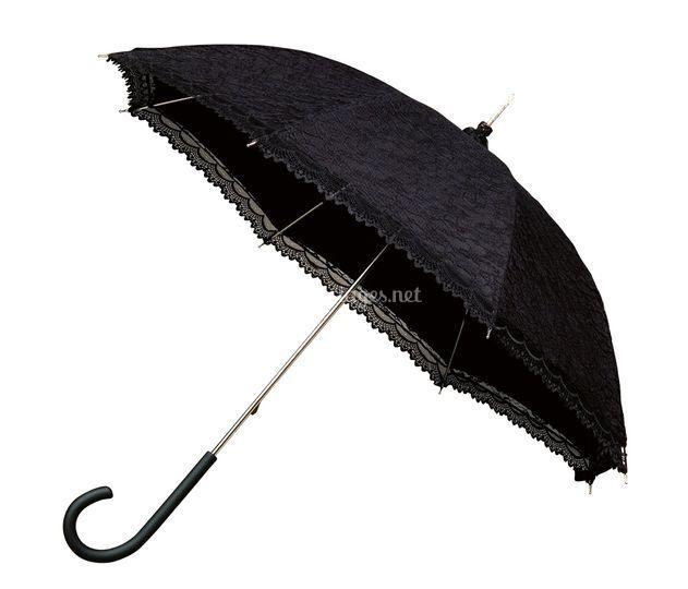 Parapluie dentelle noir
