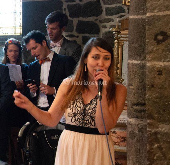 Chant gospel à l'église