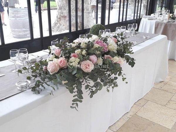 Table d'honneur eucalyptus