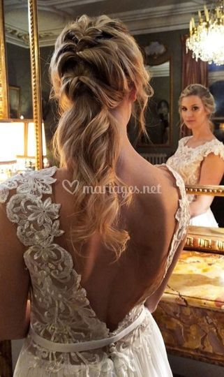 Chignon mariée princesse