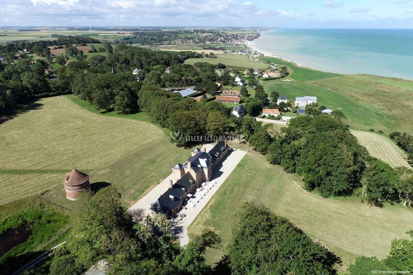 Château - vue du ciel