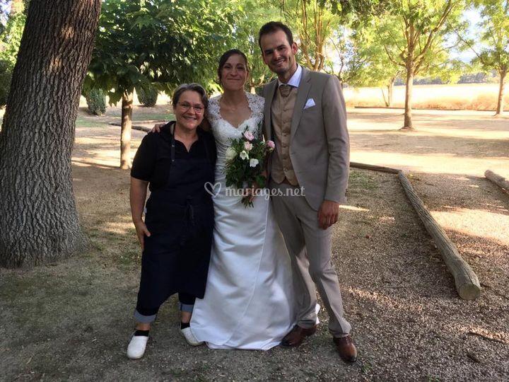 Photo avec les mariés