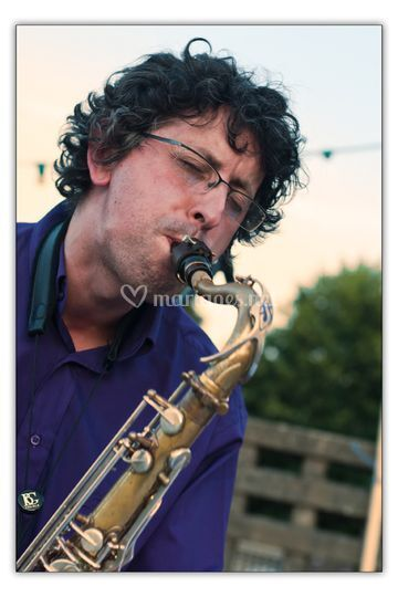 Denis au saxophone