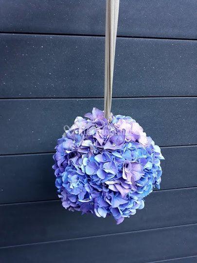 Bouquet de marié en boulle