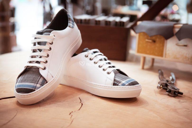 Sneakers Blanche Sur Mon 31