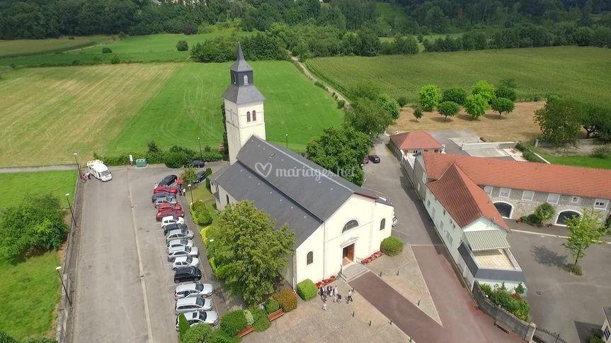 Eglise en drone
