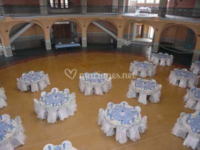 Décoration de salle mariage thème bleu