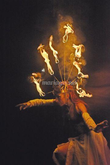 Coiffe aux sept flammes