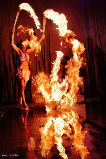 Torches de flammes volantes