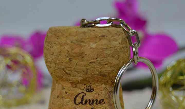 Porte clé champagne