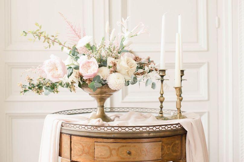 Centre de table romance