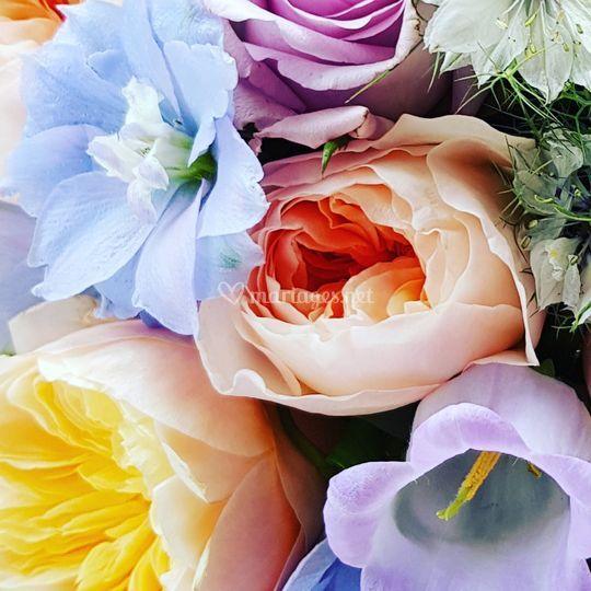 Fleurs d'été roses Juliette