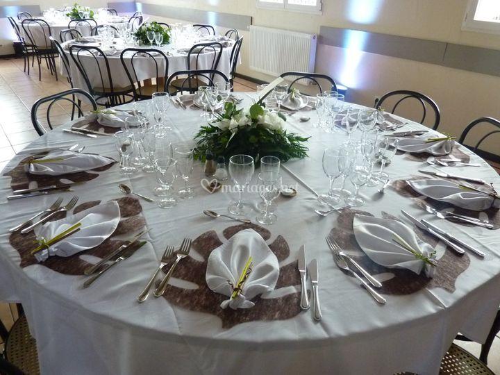 Table thème nature