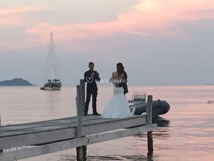 Mariage plage U Capu Biancu