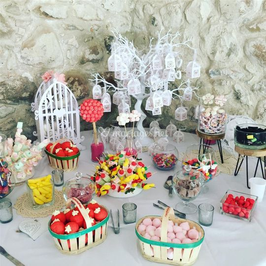 Candy bar bohème chic