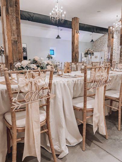 Chaise de mariés
