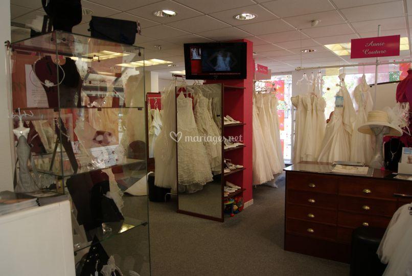 La boutique, côté mariée