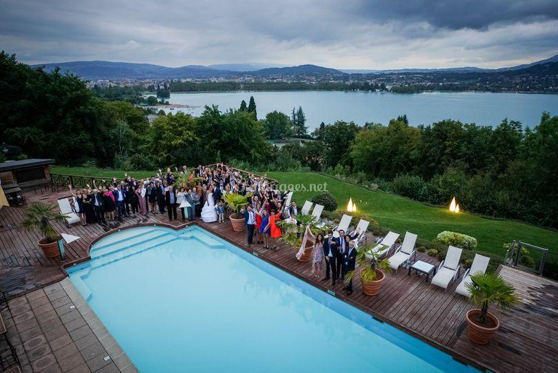 Hotel avec vue sur le lac d'an