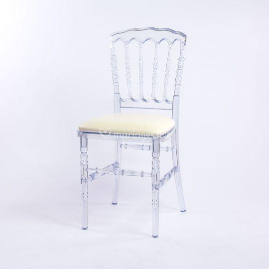 Chaise Napoléon III cristal