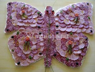 Papillon de charcuterie