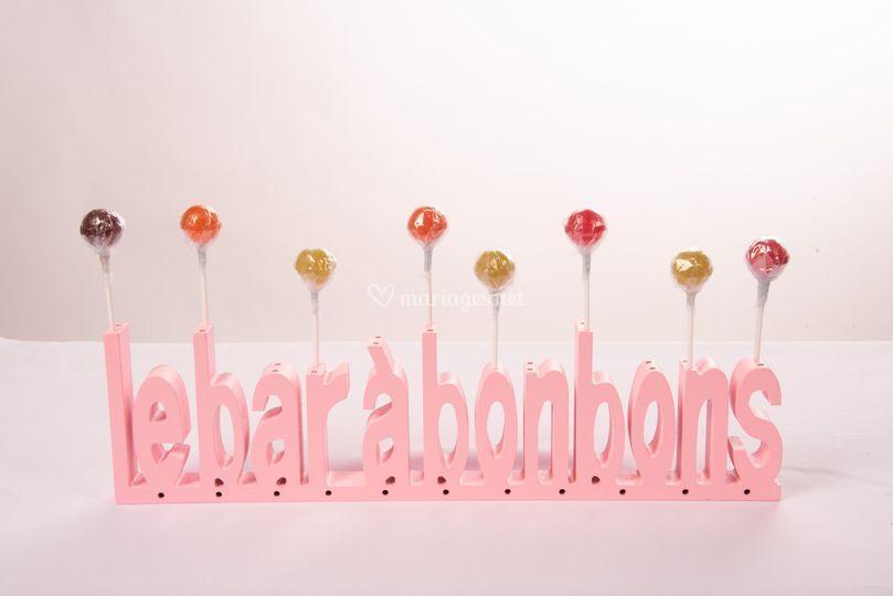 Enseigne bar à bonbon