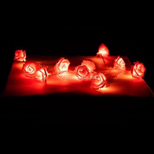 Guirlande lumineuses roses