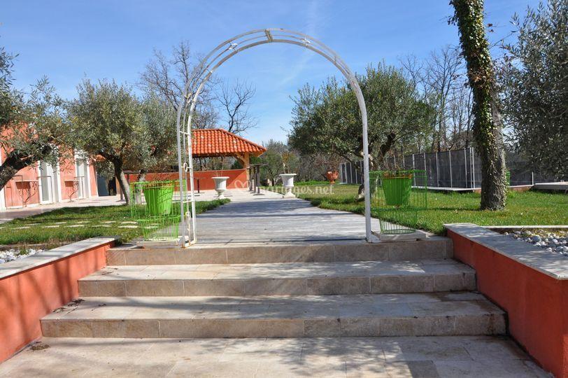 Entrée accés terrasse