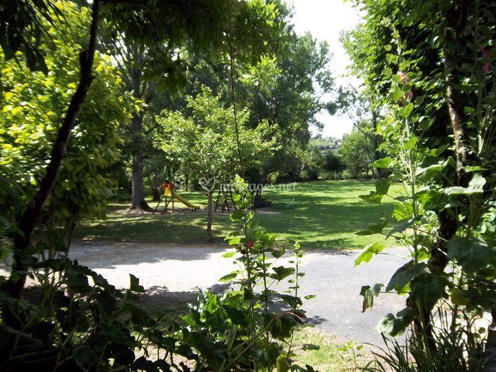 Le Parc vue de la terrasse